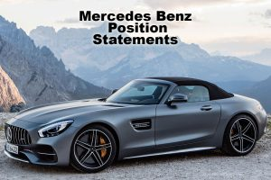 positioning statement for mercedes cars Welcome to mercedes-benz middle east, your gateway to the most luxurious and innovative cars on the market select a country and model to learn more.