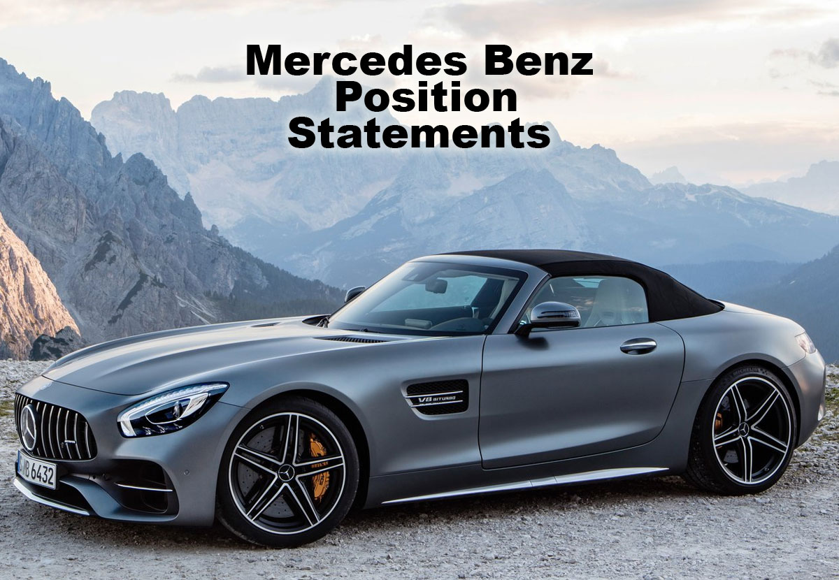 Mercedes benz position statements certified collision for Authorized mercedes benz mechanic