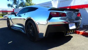 Chrome wrapped C7 Corvette