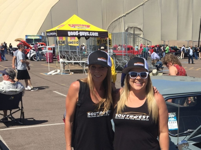 Jackie (left) and Rachel (right), at the 9th Annual Goodguys Spring Nationals