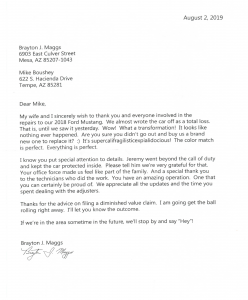 Kudos letter to Mike