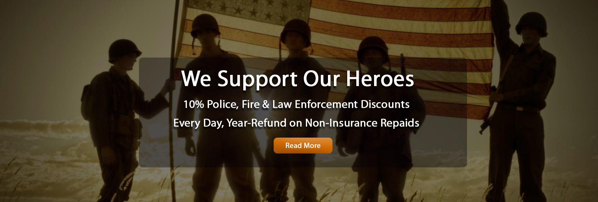Military, Fire and LEO discounts
